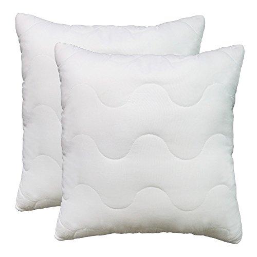 Couch Deals Warehouse (2er SET Kissen 50x50cm Füllkissen Kissenfüllung Microfaser Allergiker geeignet 50x50 für Dekokissen Sofakissen Cocktailkissen Kopfkissen (50x50 2er Set))