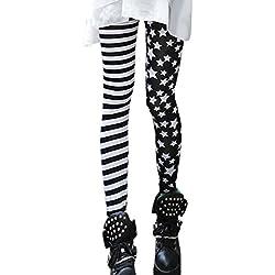 Pinkyee DWR-Y268-1_K1 - Leggings para Mujer, Color d0497-pattern, Talla única