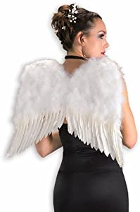 "White Feather Angel Wings! 19 x 20"" Christmas Fancy Dress! (accesorio de disfraz)"