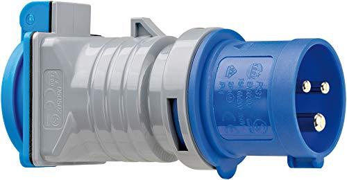 Brennenstuhl 1080990 Adapter Schutzkontakt 230V/CEE 16A IP44, grau blau