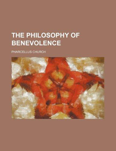 The philosophy of benevolence