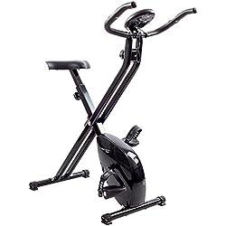 Techfit XB200 Bicicletta di fitness, Ruota da 2,5 kg, Bicicletta per Esercizi magnetica, Bicicletta per Esercizi Pieghevole, Bicicletta dispositivo di Ripristino, Cardio