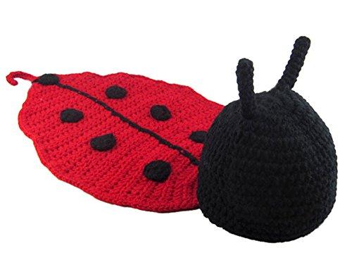 Demarkt Kinder Baby Strick Mütze Fotoshooting Neugeborene Käfer Muster Design Hut Kostüm Hüte (Süßes Paar Ideen Für Kostüm)