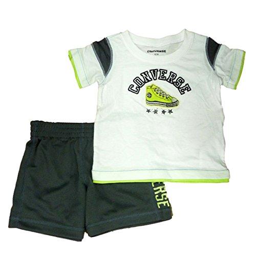 Infant Kleinkind Jungen 2 St¨¹ck Athletic T-Shirt Grau Mesh Shorts Set 2T (Shirts Für Converse Kleinkinder)