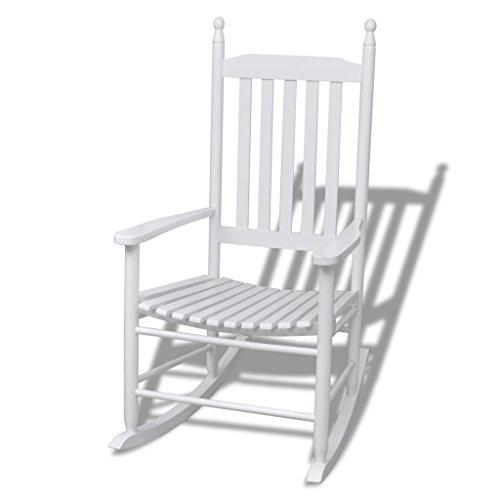 Schaukelstuhl Hartholz (Festnight Garten Schaukelstuhl Gartenstuhl Relax Sessel Hartholz Gartenmöbel 60,5 x 82 x 114 cm für Terrasse oder Garten)