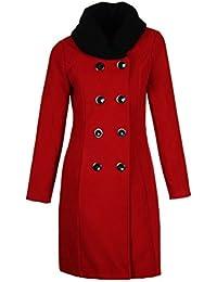 Laeticia Dreams Damen Winter Mantel Jacket Stehkragen XS S M L XL
