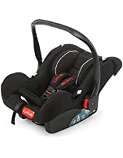 LuvLap 4-in-1 Infant/Baby Car Seat & Carry Cot with Canopy, 0 to 9 Months (Black)