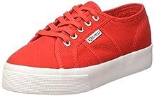 Superga 2730-cotu, Chaussures de Gymnastique Femme, Rouge (Red/White C90), 46 EU
