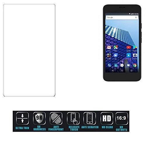 Für Archos Access 55 3G Schutzglas Glas Schutzfolie Glasfolie Bildschirmschutzfolie Bildschirmschutz Hartglas Tempered Glass Verb&glas für Archos Access 55 3G 16:9 Format, bedeckt nicht die Seitenb