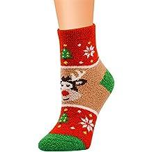 ... zapatillas vans mujer el corte ingles. Kinlene Trabajo casual Calcetines de negocios Impresión navideña Coral Fleece Medias medias deportivas