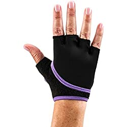 Toesox Gloves, color morado, tamaño small