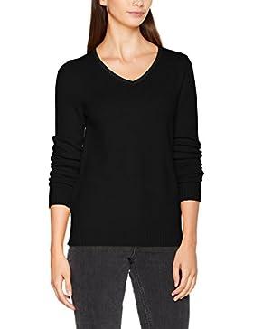 Vila Viril L/S V-Neck Knit Top-Noos, suéter para Mujer