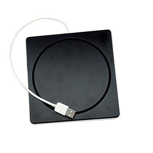 MagiDeal Externes CD/DVD RW-Laufwerk USB 2.0 Slim DVD Laufwerk Superdrive Case Für Macbook Luft Pro (Externes Dvd-laufwerk Slot-in)