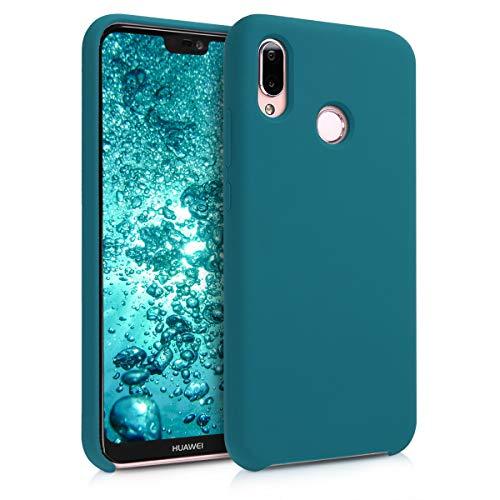 kwmobile Huawei P20 Lite Cover - Custodia per Huawei P20 Lite in Silicone TPU - Back Case Cellulare Petrolio Matt