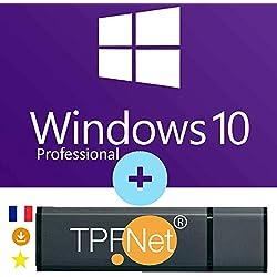 MS Windows 10 Pro 32/64 Bits - Clé de Licence Originale avec Clé USB de Démarrage de - TPFNet®