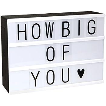 LitEnergy ~ gestaltbar LED Kino Leichte Box ~ Leuchten Ihrem Leben ~ Filmischen Licht-Box ~ Leuchtkasten mit flexiblen Buchstaben