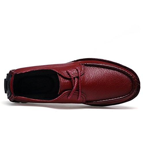 Miyoopark , Chaussures bateau pour homme Bordeaux