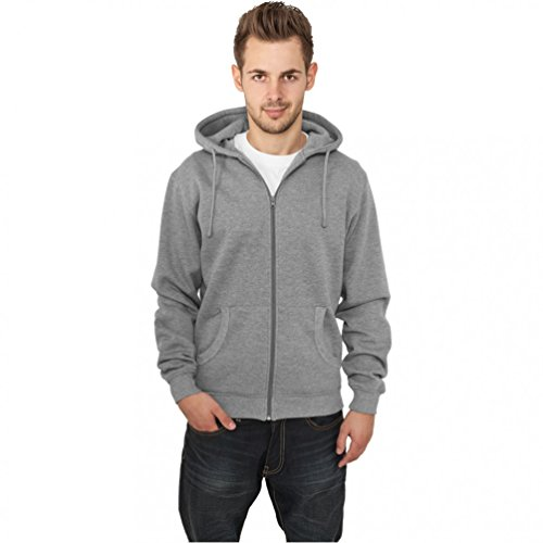 Urban Classics Relaxed Zip Sweat t Turquoise Faded Turkish