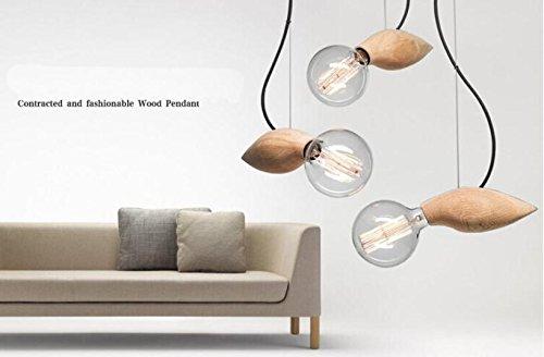 Y&M Loft-Stil Leuchten/Kronleuchter/Glas/Creative Arts Bar/Café/solide Holz Kronleuchter Lüster/mango - Solide Mango Holz