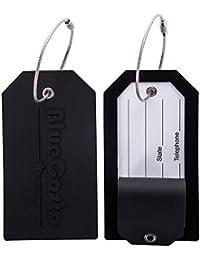 CSTOM Silicone Etiquettes Bagages Etiquette Voyage Valise Baggages étiquettes à bagage - 5 Couleurs