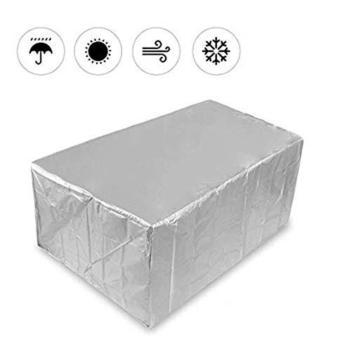 GZHENH-Abdeckung Gartenmöbel Oxford Tuch Wasserdicht Antialterung Winddicht Außendekoration Rechteck 33 Größe (Color : Silver, Size : 160x130x90cm)