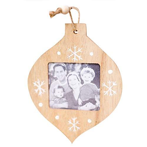 (DIY Holz Bilderrahmen, Innovative Handgemachte Weihnachtsschmuck Weihnachten Anhänger,Weihnachtsschmuck Wandbehänge Für Wohnzimmer Schlafzimmer Büro Hof)