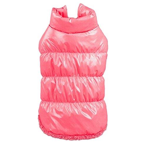 Generic Warm Winterjacke Mantel Weste Jacke Kleid für Haustier Hunde Katze - Rosa, M