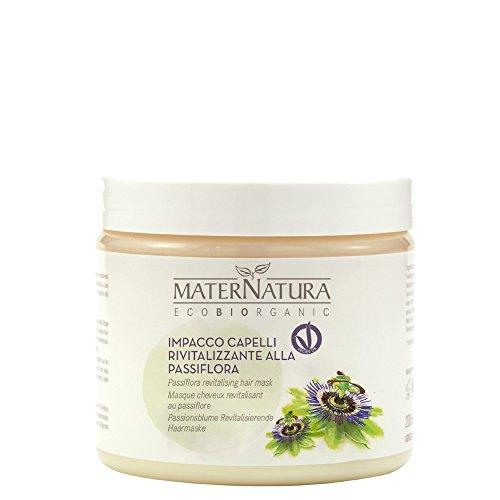MATERNATURA - Impacco Capelli Rivitalizzante alla Passiflora - Maschera per riparare la fibra capillare e rivitalizzare i capelli - Nickel Tested, Vegan