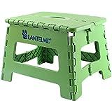 Lantelme 6775Tabouret pliant en vert–universel Tabouret en plastique–pliable que les enfants Tabouret–Marchepied ou aussi comme Siège