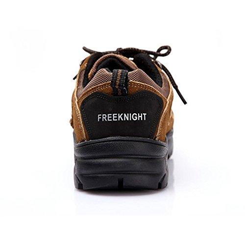 emansmoer Homme Suède Imperméable Respirante Sport Outdoor Footwear Chaussures de Randonnée Trekking Trail Marche Marron