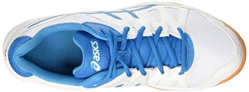 Asics Gel-Upcourt, Scarpe da Pallavolo Uomo Multicolore (White / Blue Jewel / White)
