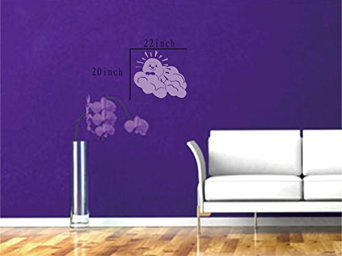 Large--Easy instant decoration wall sticker wall mural boy girl kids baby nursery room butterfly sun FL810