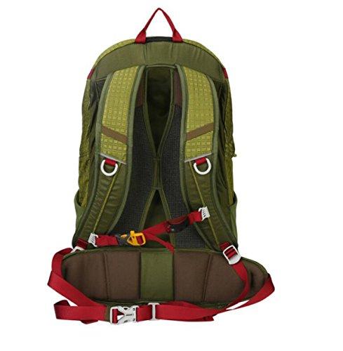 Sacchetto Di Guida Di Montagna Eccellente Impermeabile Delle Spalle 30L,Red Green