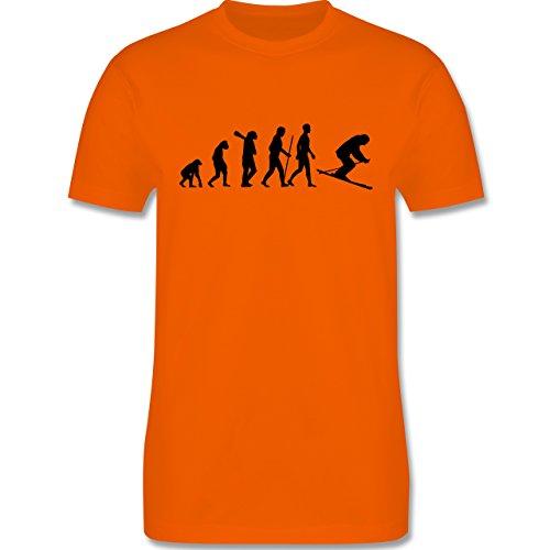 Evolution - Skiabfahrt Evolution - Herren Premium T-Shirt Orange