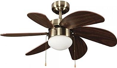 Deckenventilator Mit Licht Flut Modern 76.2 X 76.2 X 41.5 Cm Leder