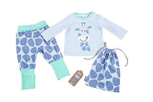Sigikid Baby-Mädchen Zweiteiliger Schlafanzug Pyjama, Blau (Halogen Blue 734), 86