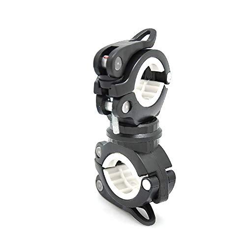 Wudi 1pc Fahrradlicht Halter Halterung Fahrradhalterung 360 Grad Fahrrad-Licht-Halter Halterung Fahrrad-Fackel-Klipp Fahrradzubehör (Schwarzweiss)