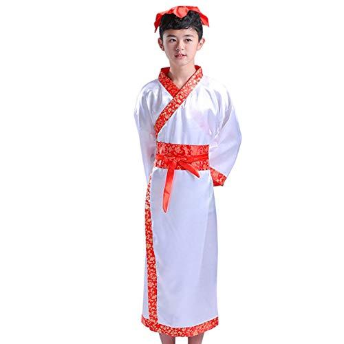 Tenthree Traditionell Chinesisch Historisch Hanfu - Unisex Kinder Retro Tang Anzug Kostüm Bühne Kleid Show Tanz Perfomanzen Cosplay Verrücktes ()
