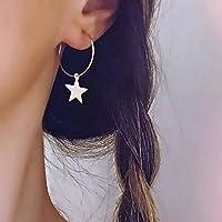 ✿ ESTRELLA aro delicado ✿ Pendientes pequeños y ESTRELLAS color PLATA