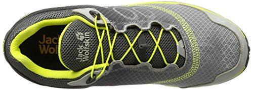 Jack Wolfskin Zenon Track Low M, Scarpe da Trail Running Uomo Grigio (Alloy)