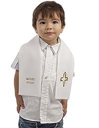 Echarpe Enfant Cérémonie pour Baptême blanche