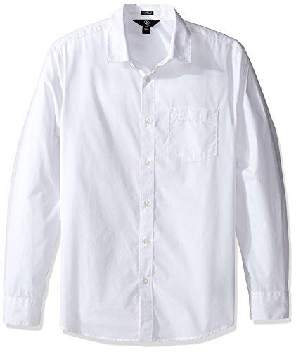 Volcom Herren Hemd Everett Solid Longsleeve Weiß
