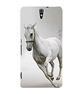 White Horse 3D Hard Polycarbonate Designer Back Case Cover for Sony Xperia C5 Ultra Dual :: Sony Xperia C5 E5533 E5563