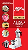 Anjali Alinoo 750-Watt Mixer Grinder with 3 Jar (Large, White)