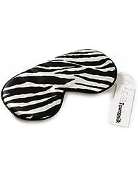 Máscara de sueño de 100% seda con correa ajustable, máscara de ojo cómoda y