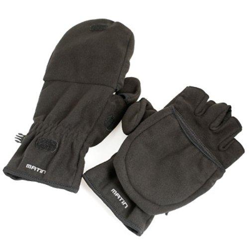 Enjoyyourcamera Foto-Handschuhe schwarz, sehr warm mit herunterklappbarem Stulpen und Daumen-Teil - Gr. M (EU) Schwarz, Polyester, Wintermantel