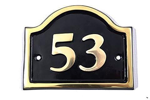 Brass Bridge House Number (Number 53)