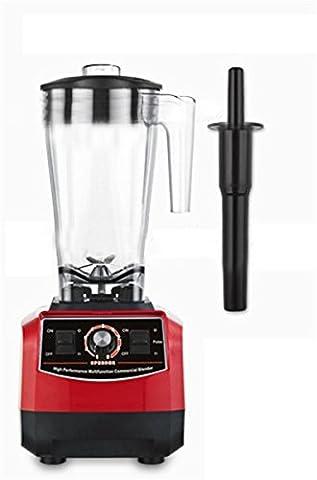 GELINGWEI 2200W Profi-Serie Blender & Living High-Speed-Food-Prozessor & Machinemulti-Funktion Mixer & Fleischwolf & Smoothie Maker & Ice Cream & Juicer & Grinder-Red