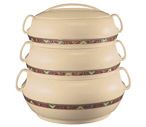 Dreamline Tristar Stackable Casserole - Set of 3 ( Beige)