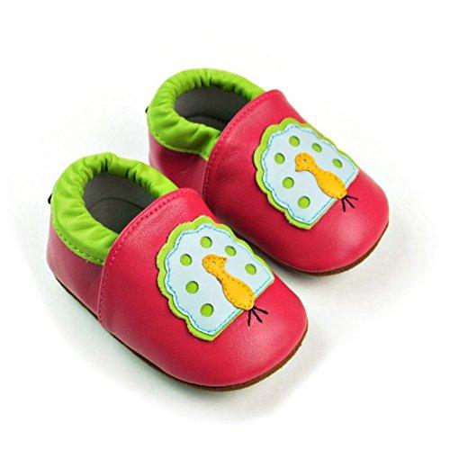 leap frog  Cartoon Leather Sneaker, Baby Jungen Lauflernschuhe pfau
